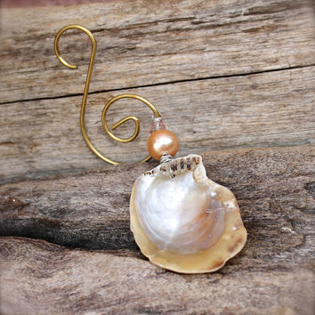 Hawaii Seashell Ornament - Seashell Christmas Ornament - Hawaiian Shell Decor - Shell Ornament from Hawaii - Christmas Decor made in Hawaii