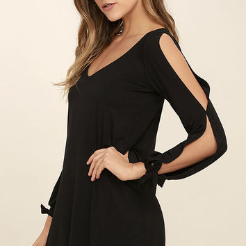 Glory of Love Black Shift Dress