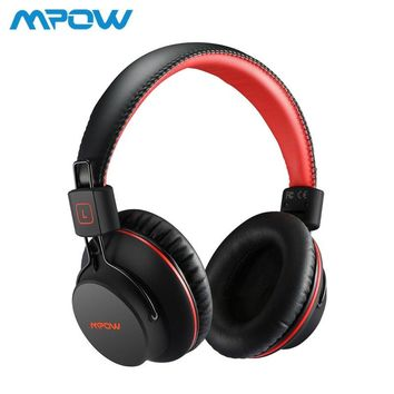 Mpow H1 HiFi Stero Wireless Bluetooth Headphones With Mic Soft Ear Pads Noise Cancelling Headset Earphone For iPhone Android TV