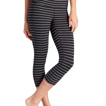 Athleta Womens Stripes Chaturanga Capri