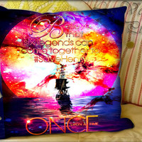 Once Upon a Time Captain Hook Believe - Pillow Cover and Pillow Case.