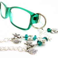 Starfish and Seashell Eyeglass Lanyard