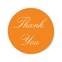 Orange Thank You Stickers