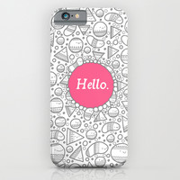 Hello iPhone & iPod Case by Randyotter