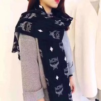 Mcm Women Smooth Cashmere Warm Winter Cape Scarf Scarves