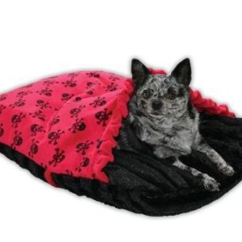 Red Skully Pet Pockets Bedding For Pets That Burrow