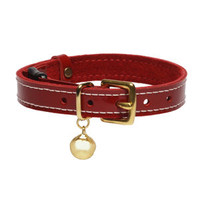 Patent Leather Cat Collar With Safety Catch