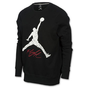 Men's Jordan Flight Jumpman Fleece Crew Sweatshirt