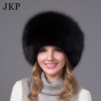 0564b0cc093 Winter unisex fox fur hat Sheepskin hat fox  raccoon Fur Hat mut
