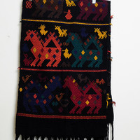 Vintage Amazing Colorful and Unique Tribal Ethnic Camel Llama and Other Animal Print Wide and Thick Scarf Or Accessory