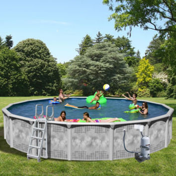 Century pools majestic above ground resin from epic for Resin above ground swimming pools