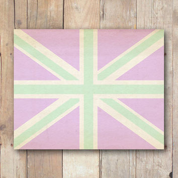 Union Jack print, British flag printable art, printable dorm wall art, lavender nursery printable wall art printable, Sherlock, dorm decor