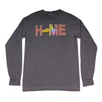 Kentucky Home Long Sleeve Tee in Gray by Southern Roots