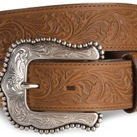 Tony Lama Brown Layla Leather Belt - Sheplers