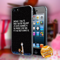 Calvin and Hobbes Quotes - Print on hard plastic case for iPhone case. Select an option