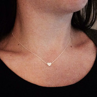 Hand made tiny heart necklace