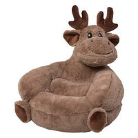 Children's Plush Moose Character Chair