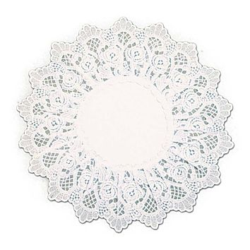 Deluxe White European Lace Rose Wedding Table Linen Round