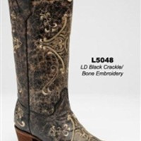 Corral Black Crackle/Sand Embroidery L5048 | Boot Country Online