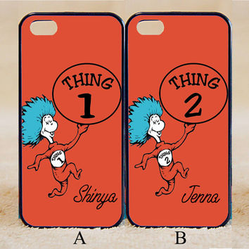 Thing 1 and Thing 2,Best Friends,Custom Case, iPhone 4/4s/5/5s/5C, Samsung Galaxy S2/S3/S4/S5/Note 2/3, Htc One S/M7/M8, Moto G/X