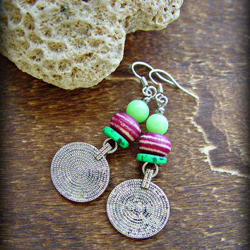 Gypsy Coin Earrings - Boho Gypsy Earrings - Hippie Earrings - Yoga Earrings - Boho Jewelry - Tribal Earrings - Ethnic Earrings