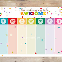 AWESOME Printable Weekly Planner / Weekly Organizer / A4 and 8.5x11 size