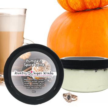 Pumpkin Spice Latte Jewelry Sugar Scrub