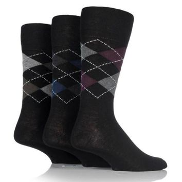 Non Binding Socks for Men or Women in Argyle