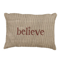 Rustic Believe Accent Pillow