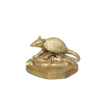 Brass Armadillo Ashtray Brass Ashtray Armadillo Ashtray Gold Armadillo Ashtray Southwestern Ashtray Southwestern Decor Dessert Texas Decor