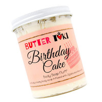STRAWBERRY CAKE FROSTING Whipped Body Soap Fluff