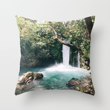 Chasing Waterfalls Throw Pillow by Gallery One