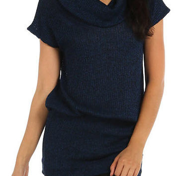 Navy Heather Tunic Sweater