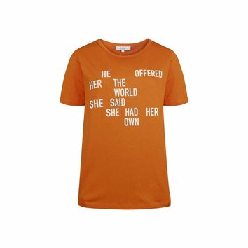 Bree quote s/s logo t-shirt | WeSC