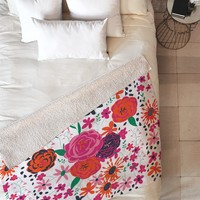 Vy La Bloomimg Love 1 Fleece Throw Blanket