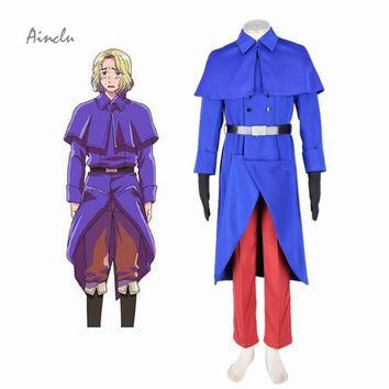 Ainclu Anime French Axis Powers Hetalia France Cosplay Costume Adult Customized Any Size Hot Sale Halloween Costumes For Men