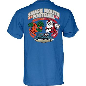 LMFON NCAA Georgia Bulldogs vs Florida Gators Smash Mouth Football Game Day Blue  T Shirt