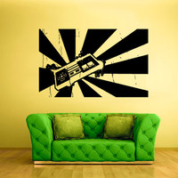 rvz1641 Wall Decal Vinyl Sticker Joystick Controller Ps3 Xbox Game Gaming Boys