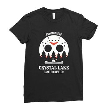 crystal lake camp counselor Ladies Fitted T-Shirt