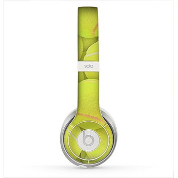 The Tennis Ball Overlay Skin for the Beats by Dre Solo 2 Headphones