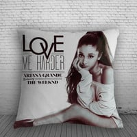 Ariana Grande Love Me Harder Pillow, Pillow Case, Pillow Cover, 16 x 16 Inch One Side, 16 x 16 Inch Two Side, 18 x 18 Inch One Side, 18 x 18 Inch Two Side, 20 x 20 Inch One Side, 20 x 20 Inch Two Side