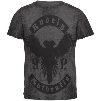 Rudely Authentic Distressed Grunge Phoenix Mens Soft T Shirt