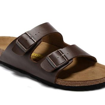 Birkenstock Men Women Black Casual Sandals Flip Flops