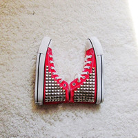The stud shoes personality fashion shoes studed shoes
