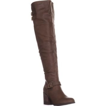 M35 Odiana Over-the-Knee Tall Boots, Brown, 6 US