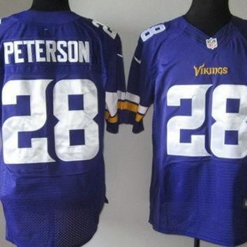 Nike Vikings #28 Adrian Peterson 2013 New Style Purple Team Color Mens NFL Elite Jerse