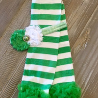 St. Patricks Leg Warmers, Green Leg Warmers, Girls St. Patricks Outfit, First St. Patricks, St. Patricks Leggings, Baby Girl Leg Warmers