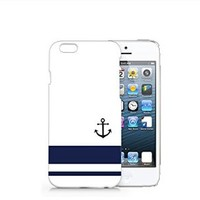 Striped Min Anchor Forever Iphone 6 Plus case, Iphone 6 Plus Case Plastic Hard White Cover Skin Case (5.5'' Screen)-Quindyshop (AM472)