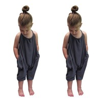 Girls clothes Straps Rompers Toddler Baby Jumpsuits