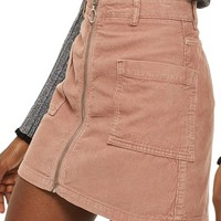 Topshop Zip Through Corduroy Skirt | Nordstrom